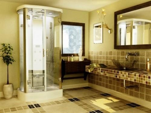 Ванная комната с душевой кабиной. Фото 7