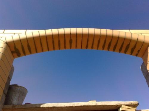 Чистка арки от раствора