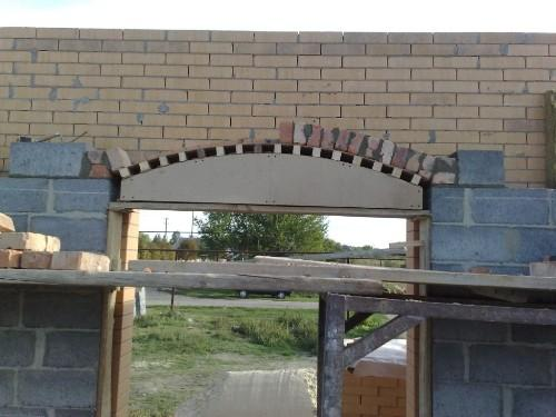 Забутовочная арка своими руками