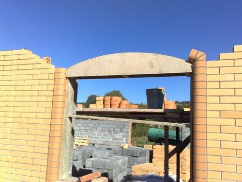 Строительство лучковой арки из кирпича