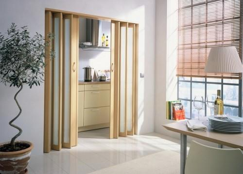 Деревянные двери - гармошка