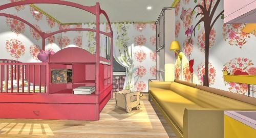 Дизайн детской комнаты для новорожденного. Фото 7