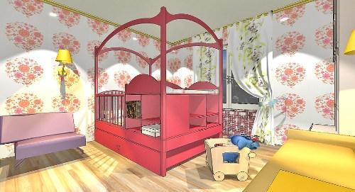 Дизайн детской комнаты для новорожденного. Проект