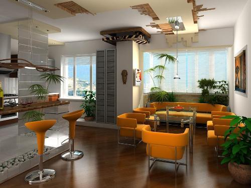 Дизайнерские приемы в дизайне интерьера квартиры студии