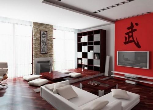 Дизайн интерьера в японском стиле. Фото 10