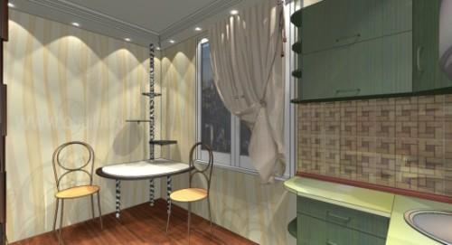 Дизайн кухни 9 кв м. Фото 3
