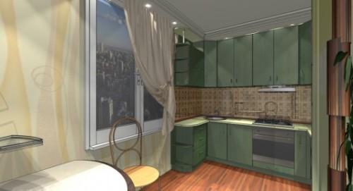 Дизайн кухни 9 кв м. Фото 4
