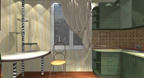 Дизайн кухни 9 кв м. Фото 6
