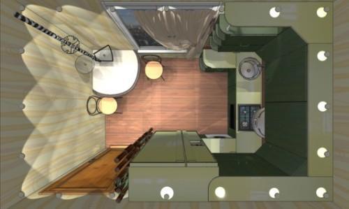Дизайн кухни 9 кв м. Фото 7