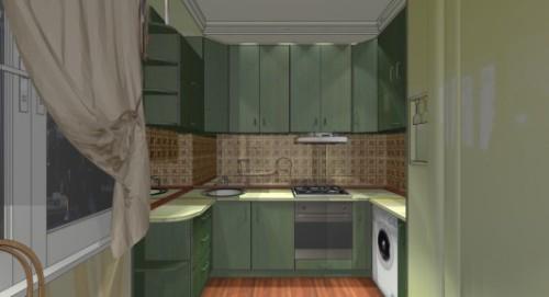 Дизайн кухни 9 кв м. Фото 8