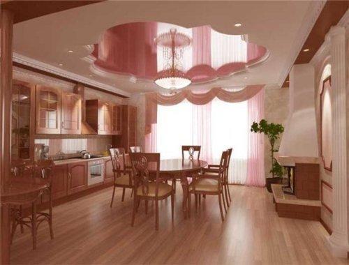 Дизайн потолков на кухне. Фото 11