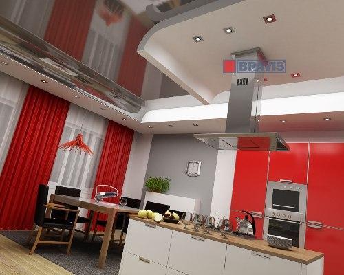 Дизайн потолков на кухне. Фото 7
