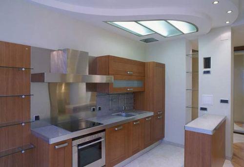 Дизайн потолков на кухне. Фото 8