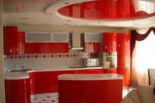 Дизайн потолков на кухне. Фото 9