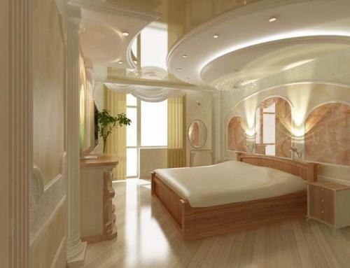 Дизайн потолков спален
