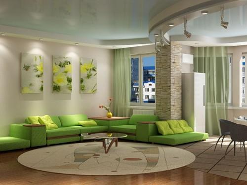 Дизайн потолков в гостиной. Фото 10