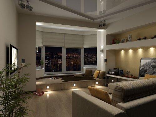 Дизайн потолков в гостиной. Фото 11