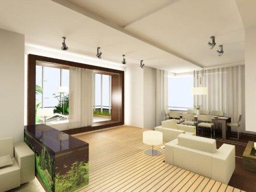 Дизайн потолков в гостиной. Фото 12