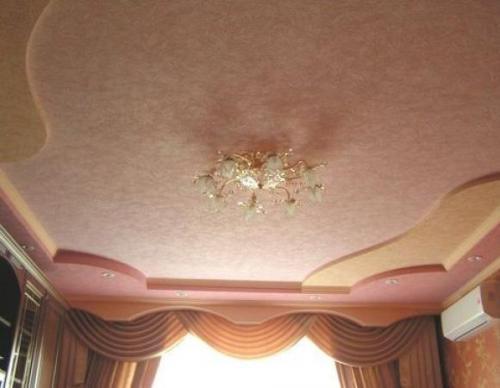 Дизайн потолков в гостиной. Фото 14