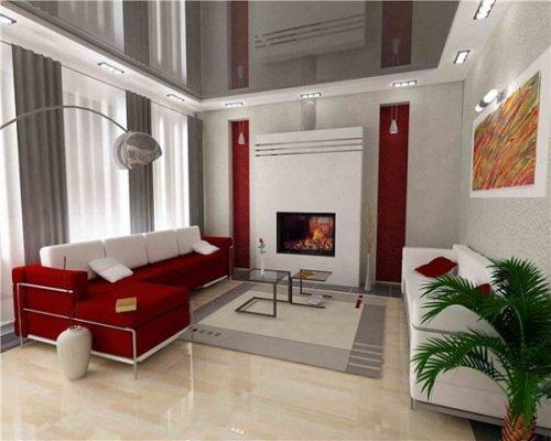 Дизайн потолков в гостиной. Фото 9