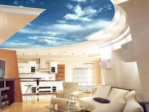 Дизайн потолков в квартире. Фото 13