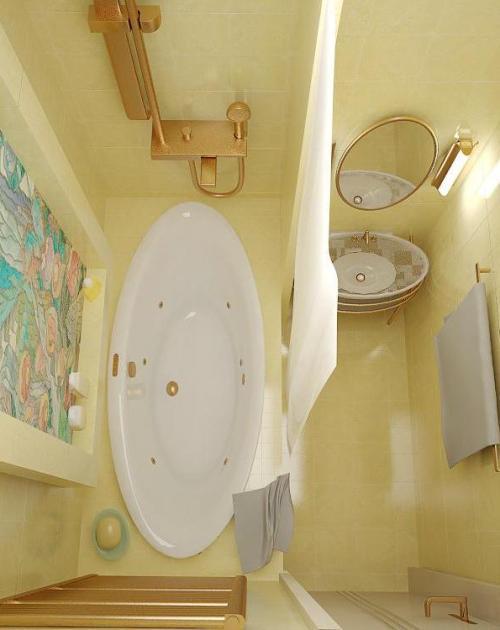 Дизайн ванной комнаты в хрущевке. Фото 20