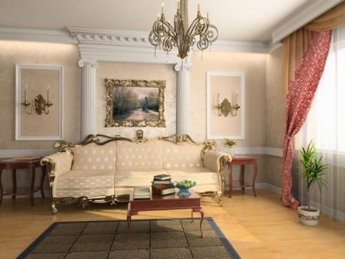 Французский стиль в интерьере гостиной