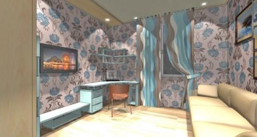 Гостиная с рабочим местом. Фото 3