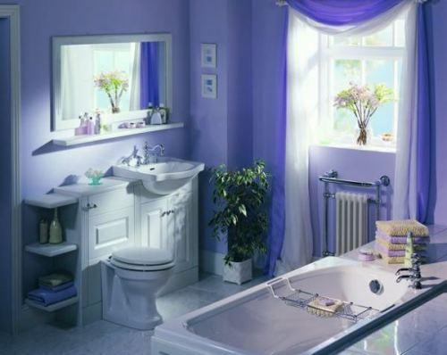 Интерьер комнаты в синем цвете. Фото