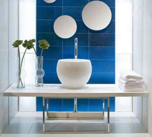 Интерьер комнаты в синем цвете. Фото 4