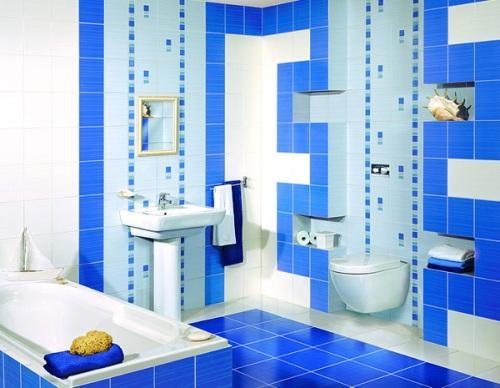 Интерьер комнаты в синем цвете. Фото 9