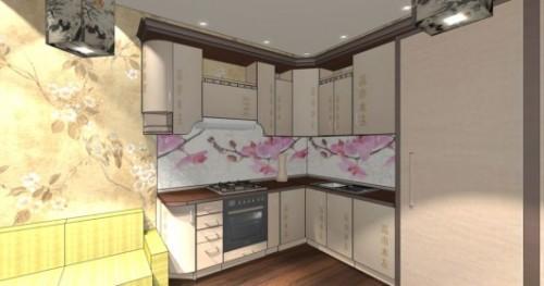 Интерьер кухни 12 кв м. Кухня в японском стиле. Фото 2