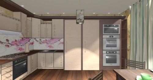 Интерьер кухни 12 кв м. Кухня в японском стиле. Фото 3