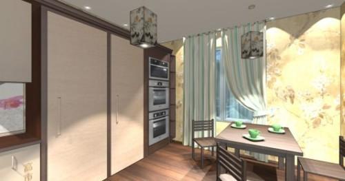 Интерьер кухни 12 кв м. Кухня в японском стиле. Фото 4