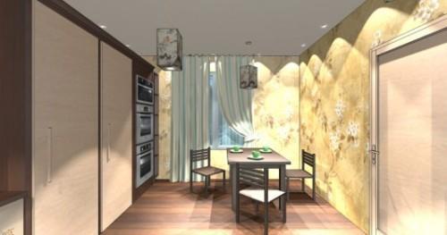 Интерьер кухни 12 кв м. Кухня в японском стиле. Фото 5