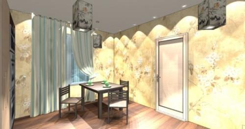 Интерьер кухни 12 кв м. Кухня в японском стиле. Фото 6