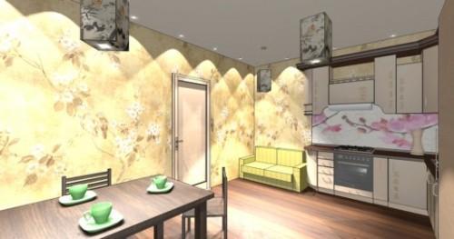 Интерьер кухни 12 кв м. Кухня в японском стиле. Фото 7