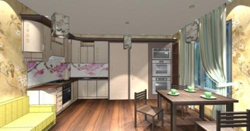 Интерьер кухни 12 кв м. Кухня в японском стиле. Фото 8