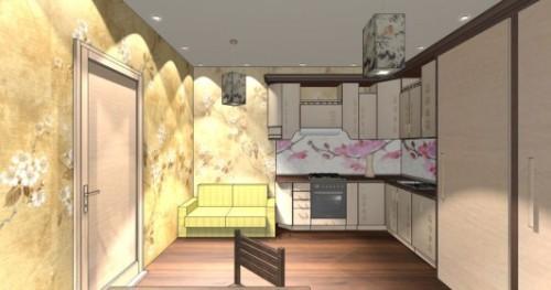 Интерьер кухни 12 кв м. Кухня в японском стиле