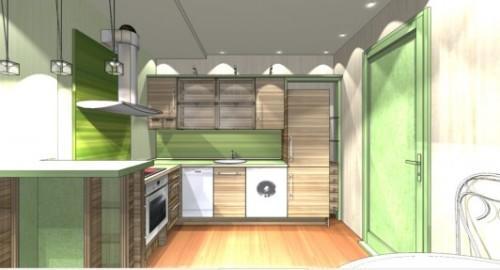 Интерьер кухни с барной стойкой. Фото 2
