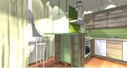 Интерьер кухни с барной стойкой. Фото 6