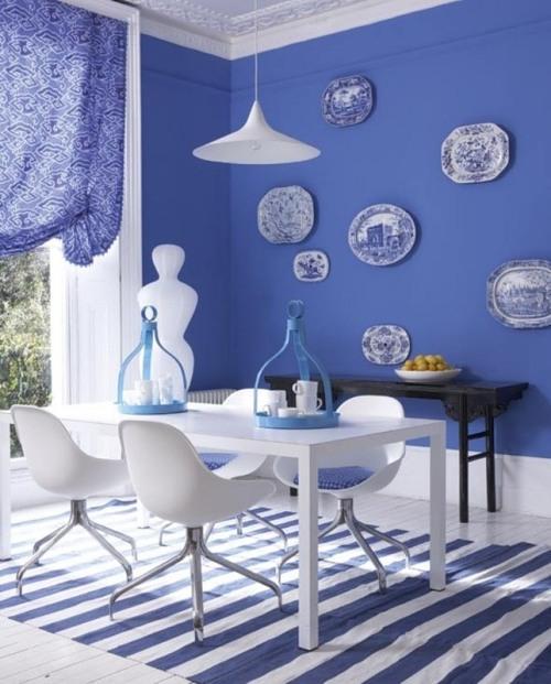 Декор для синей кухни