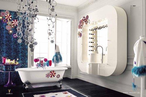 Интерьер кухни в ванной поп-арт