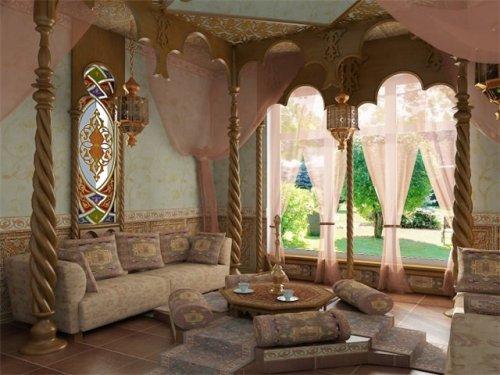Интерьер в восточном стиле. Фото