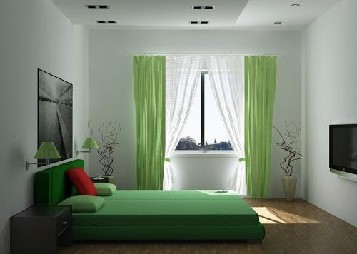 Интерьер в зелёных тонах. Фото 6