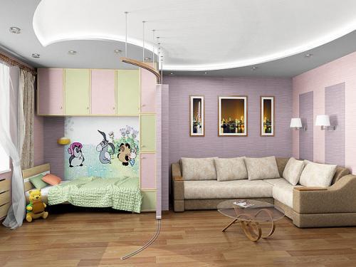 Как сделать детскую в однокомнатной квартире?