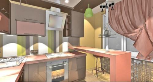 Коричневый цвет в интерьере кухни. Фото 2