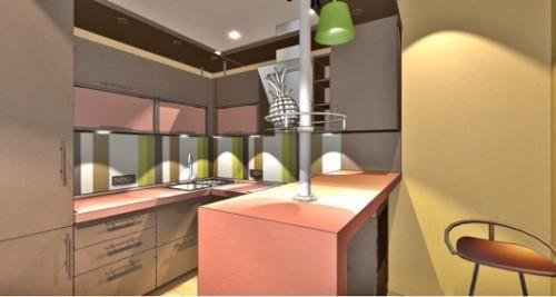 Коричневый цвет в интерьере кухни. Фото 3