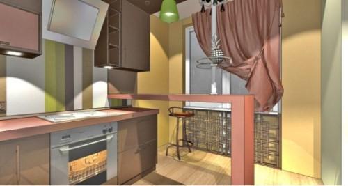 Коричневый цвет в интерьере кухни. Фото 4