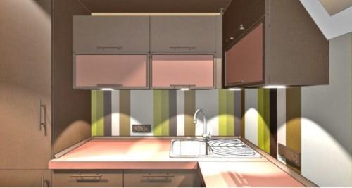 Коричневый цвет в интерьере кухни. Фото 5